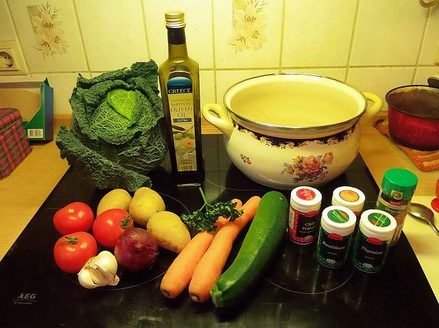 Zutaten für die Winter-Wunder-Suppe